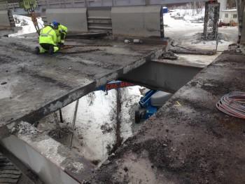 Removal of the Norsenga Bridge Kongsvinger